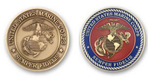 Standard USMC coin dies - Available at no extra cost