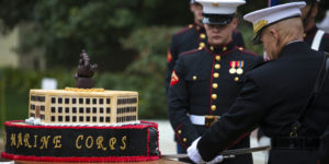 Commandant, Sergeant Major of the Marine Corps celebrate 240th Marine Corps Birthday